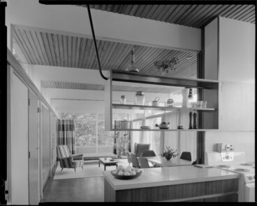 Image: Kitchen and dining room interiors, Winkler house, Wellington