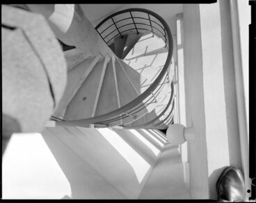 Image: Staircase in Clifton Towers, a block of flats in Wellington