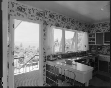 Image: Kitchen interior, Farrell house, Lowry Bay, Eastbourne, Lower Hutt