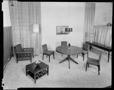 Image: Backhouse dining room furniture, in display setting