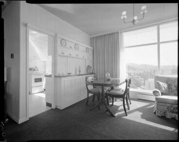 Image: Dining area of Herbert Gardens Flats, The Terrace, Wellington