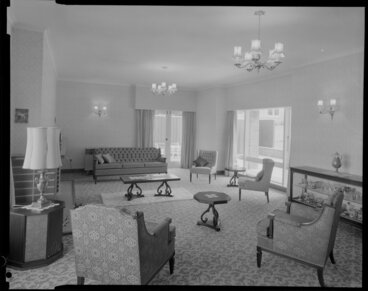 Image: Living room in Atkinson house [Wellington?]