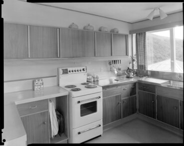 Image: Kitchen, in the house of Dr Harvey, 14 Churchill Drive, Wellington