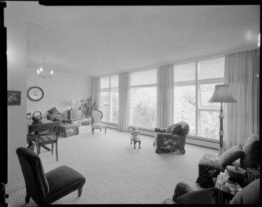 Image: Living room of Herbert Gardens Flats, The Terrace, Wellington