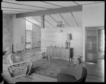 Image: Living room interior, Douglas Wilson house