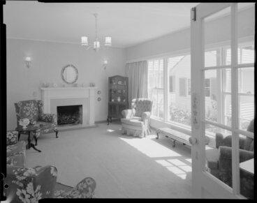 Image: Living room interior, Barton-Ginger house, Wellington