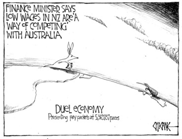 Image: Winter, Mark 1958-: Finance minister says low wages in NZ are 'a way of competing' with Australia... 12 April 2011