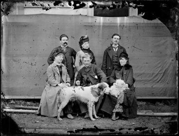 Image: Unidentifiedgroup, with pet dog