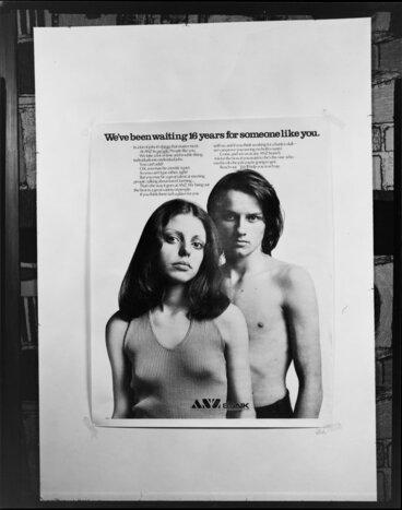 Image: J.Inglis Wright- copy negetive of various ads 18.11.1974