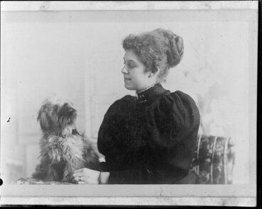 Image: K.B.R./Terry Brown, lady with dog
