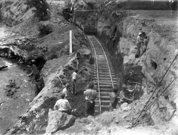 Image: Railway line construction site