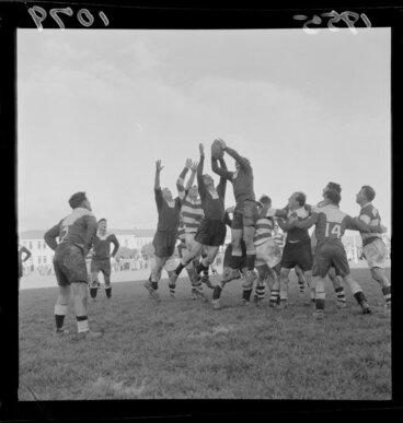 Image: Petone versus Hutt, rugby union football match at Petone, Lower Hutt