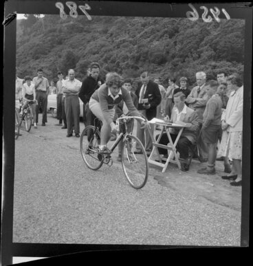Image: Janet Gosse in the women's road cycling time trials