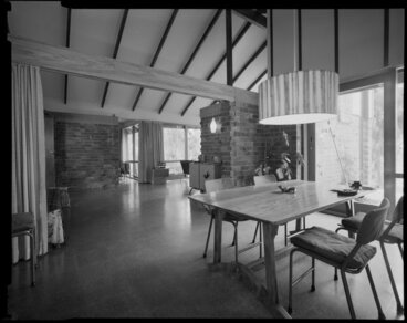 Image: Dining room of Power house, Silverstream