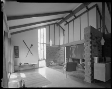 Image: Living room of Power house, Silverstream