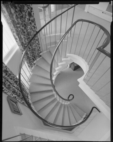 Image: Spiral staircase in Griffin family house
