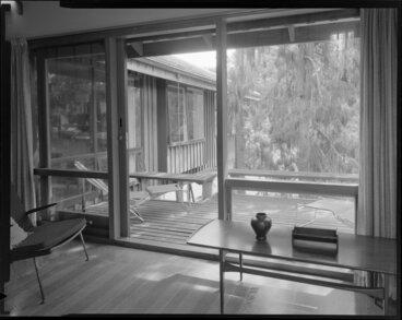 Image: View of veranda from living room, Power house, Silverstream