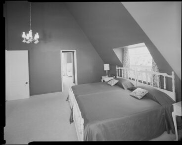 Image: Bedroom interior, Todd house