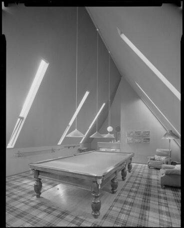 Image: Billiard room interior, Todd house