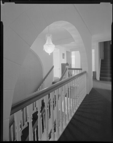 Image: Hall and stairway, Todd house