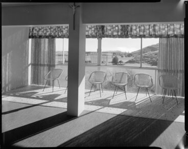 Image: Interior lounge, Roman Catholic mission house, Napier