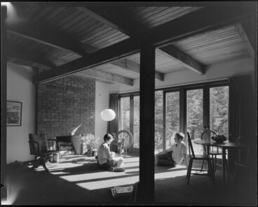 Image: Living room interior, Jon Craig house, Wellington