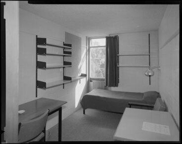Image: Student's room, Weir House, Victoria University of Wellington