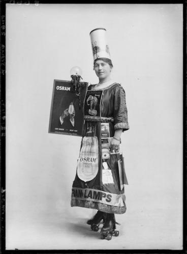 Image: Woman advertising Osram light bulbs