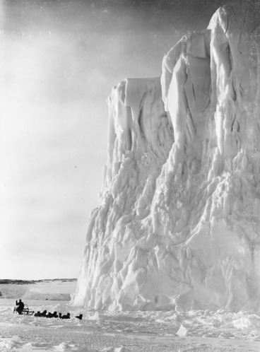 Image: The point of the Barne Glacier, Antarctica