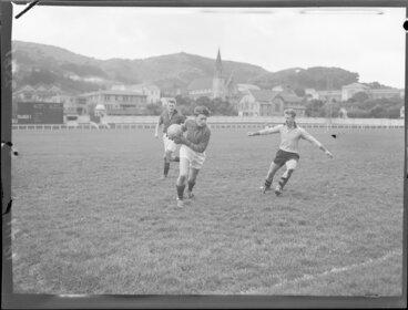 Image: Soccer match, Canterbury versus Wellington, Wellington