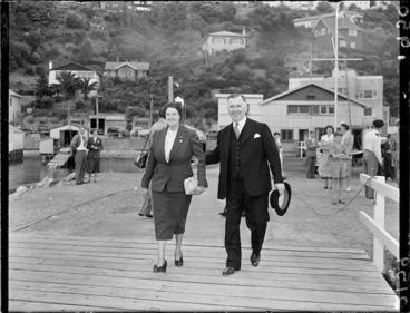 Image: Prime Minister Sidney Holland departing for London