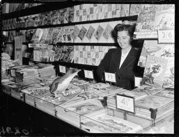 Image: Penguin and children's book counter in McKenzies department store