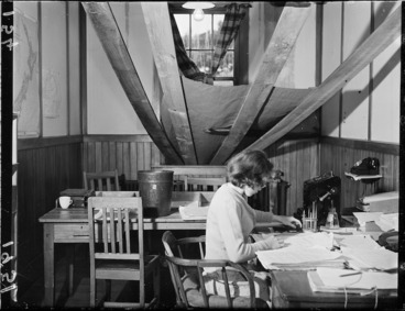 Image: Woman at Meteorological Office, Kelburn, Wellington