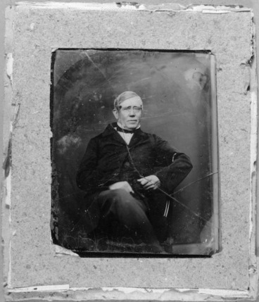 Image: Photographs of an ambrotype portrait of James Reddy Clendon