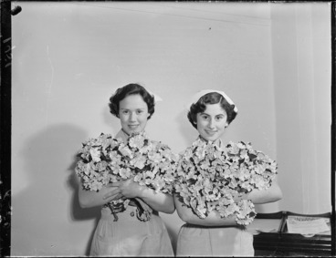 Image: Nurses with roses