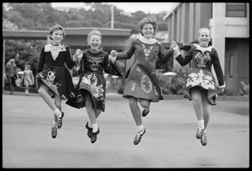 Image: Dancers at the Irish National Feis, Kilbirnie, Wellington - Photograph taken by John Nicholson
