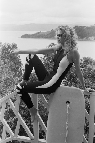 Image: Sleeveless wetsuit modelled by Lorraine Downes - Photograph taken by John Nicholson