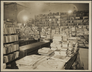 Image: View of interior of Newbolds Bookshop, George Street, Dunedin - Photograph taken by Edward Arthur Phillips