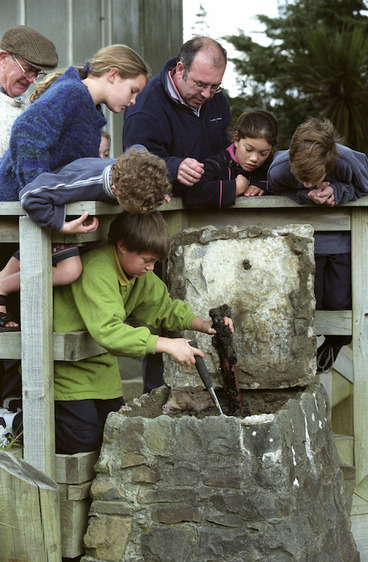 Image: Time capsule retrieved at Karori Normal School - Photograph taken by Ross Giblin