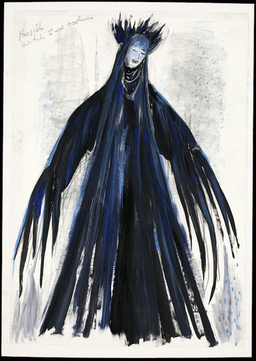 Image: Boyce, Raymond Stanley, 1928-2019 :Possible second witch. [Hansel and Gretel costume design, 1995].