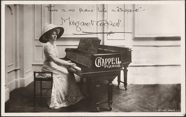 Image: Margaret Cooper with Chappell piano