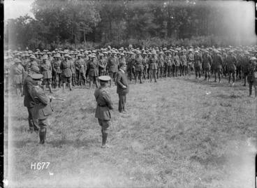 Image: Sir Joseph Ward addresses the New Zealand Pioneer Battalion, World War I