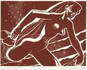 Image: Woods, George, 1898-1963 :Hinemoa and Tutanekai. [1955]