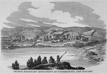Image: Church Missionary Quarterly Papers :Church-Missionary settlement at Kiddeekiddee, New Zealand. [London, Seelys, 1830]
