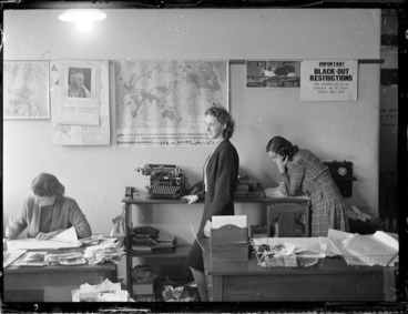 Image: Office and workers, during World War II