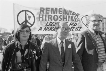 Image: Japanese participants in peace march, Wellington, New Zealand - Photograph taken by Greg King