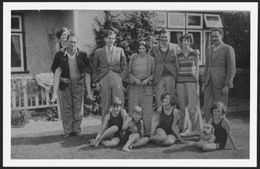 Image: Ngaio Marsh with Rhodes and Plunket families