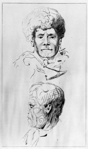 Image: Meryon, Charles, 1821-1868 :Tikao [and] Pote. [Etched between 1877 and 1888 by Auguste Delatre from drawings by Charles Meryon]