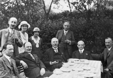 Image: [Group including Sir Ernest Rutherford]
