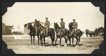 Image: General Chaytor, Major Powles, and Lieutenant Bond on horse back, Egypt